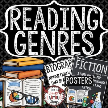 Reading Genre Posters Reading Posters Classroom Library