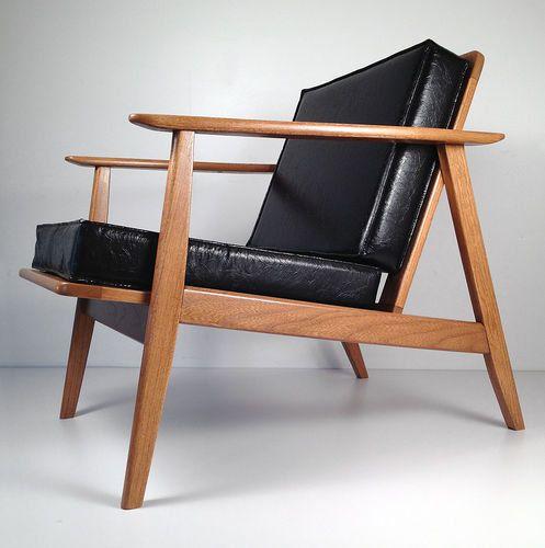 Tremendous Vintage Mid Century Danish Modern Wooden Lounge Chair Res Inzonedesignstudio Interior Chair Design Inzonedesignstudiocom