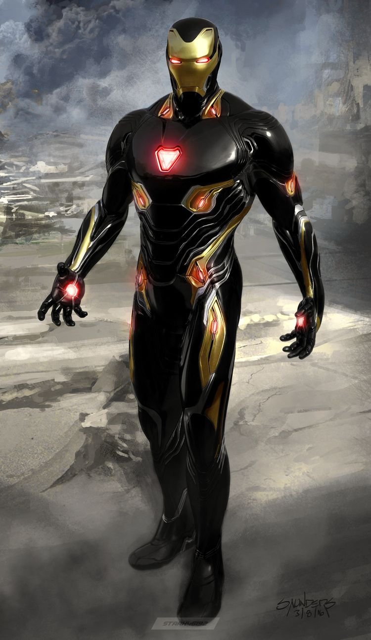 Man From Mars 2049 — Ironman Mark L armor reimagined with Black and...