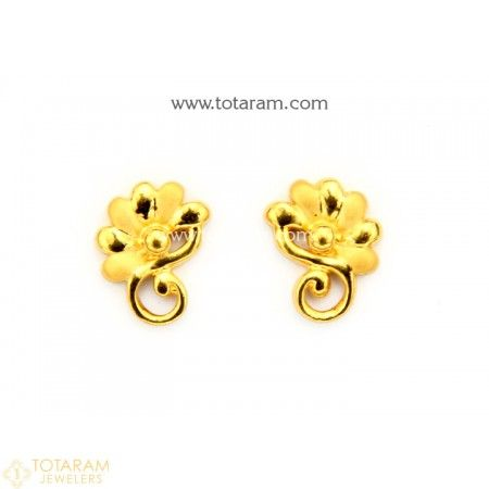 402abc15d5e9f3 22K Gold Earrings for Women - 235-GER9008 - Buy this Latest Indian Gold  Jewelry Design in 2.600 Grams for a low price of $166.40