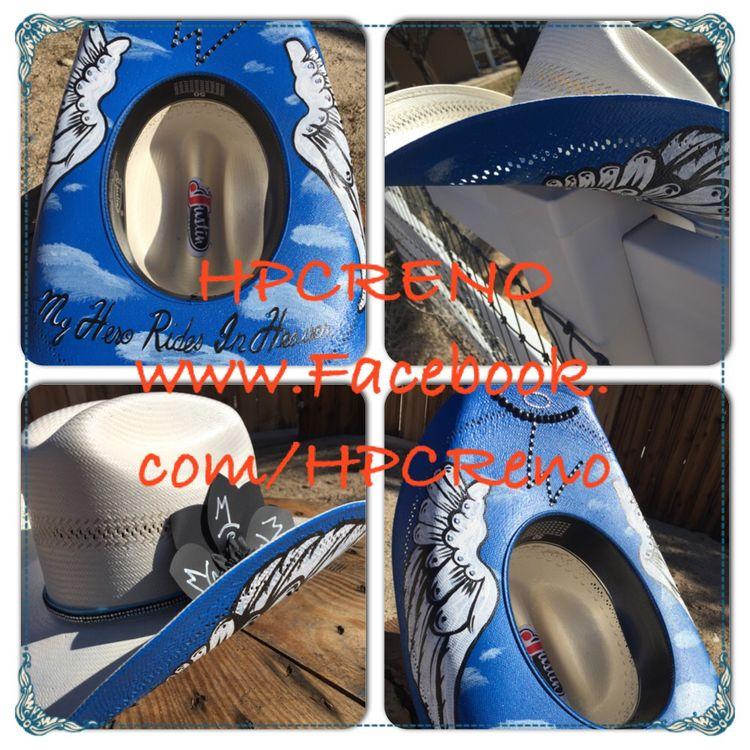 Custom Cowboy hat Memorial hat 71fad3fc7c9e