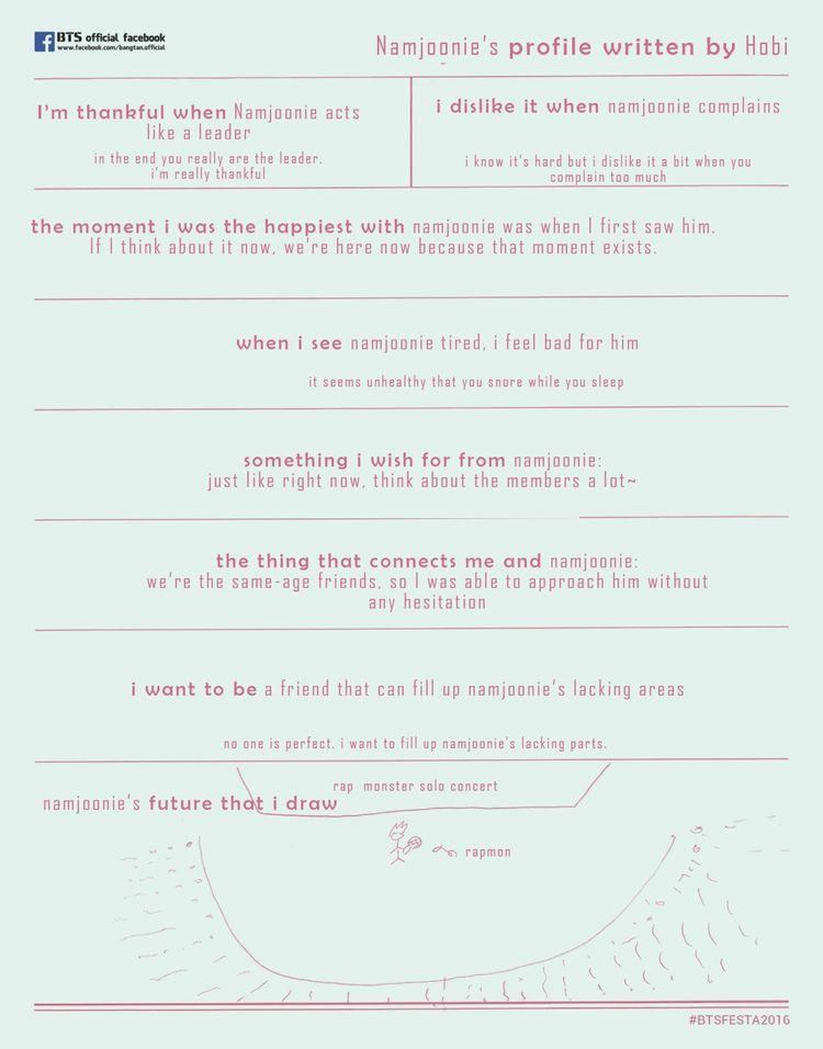 TRANS] 2016 BTS FESTA : Our Written Profile (2016 Ver ) [1