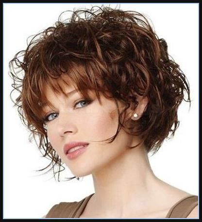 Kurze Frisuren Für Lange Gesichter Und Dicke Gewellte Haar