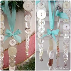 Button icicles make great Christmas decorations – Recycled Crafts