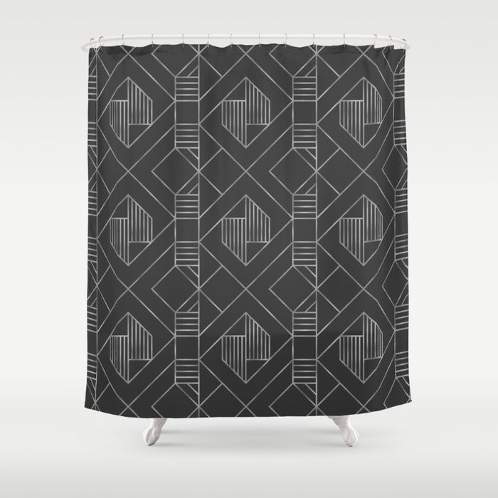 Buy Metallic Silver Foil In Dark Gray Shower Curtain By Oppositedgedesign Worldwide Shipping Available At Society6 Just One Of Millions High