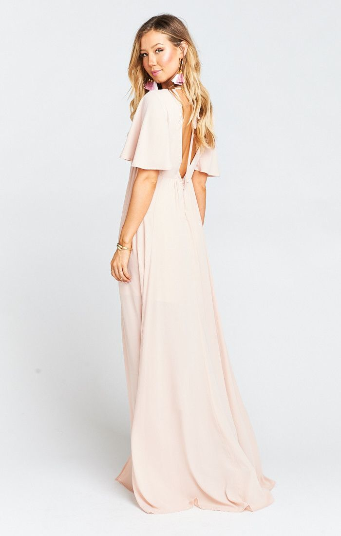 a60a410ee5d Faye Flutter Maxi Dress ~ Dusty Blush Crisp