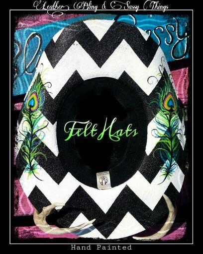 552f4275c09b3 ♥Hands painted Felt Hats