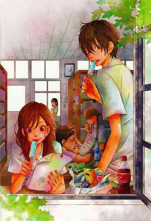 Natsume, Haru, Sasayan, Shizuku and Ooshima from the anime