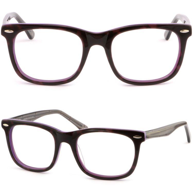 3dfdc89b886f Full Rim Square Womens Frame Acetate Plastic Prescription Eyeglasses Silver  Dots