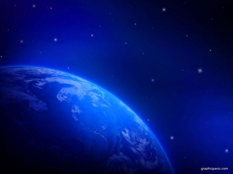 blue earth wallpaper powerpoint background and templates