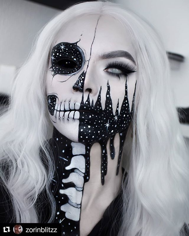 R E A P E R   Halloween Makeup Body Painting Art Idea From  @zorinblitzz   Will you try it??  Tag your friend who'll love this!   Halloween Tees On Sale!  Link in our bio.   Follow @halloweencolor for Daily Creative Halloween Ideas Tag us @halloweencolor & #halloweencolor to get featured!   #halloweenmakeup #Halloween #halloween2018 #halloweenmakeupideas #halloweenspirit #halloweencostume #halloweenwitch #halloweenzombie #isithalloweenyet #zombiemakeup #halloweenparty #bodypainting #halloweenmak