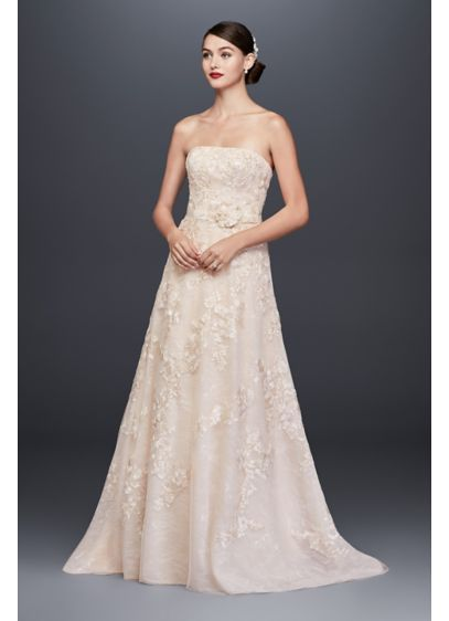 ae16326d4d Lace Appliqued A-Line Wedding Dress and Topper CWG790