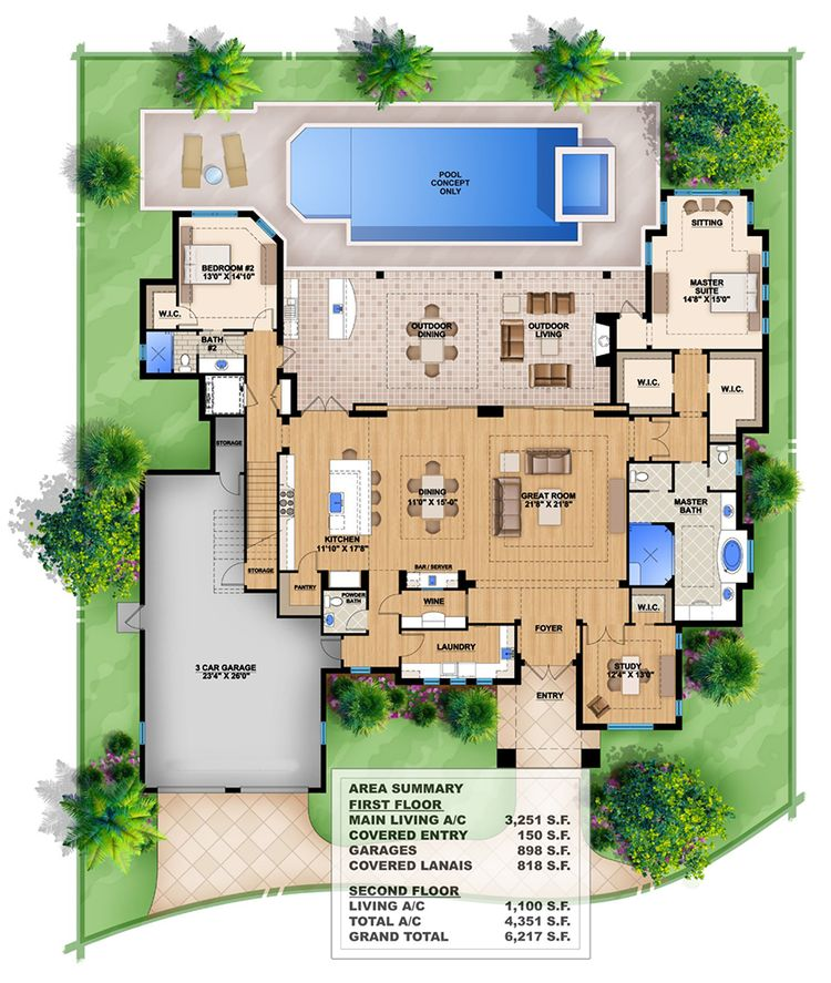 Plan 48BW Fully Open Floor Plan Awesome First Floor Master Bedroom Floor Plans Concept Design