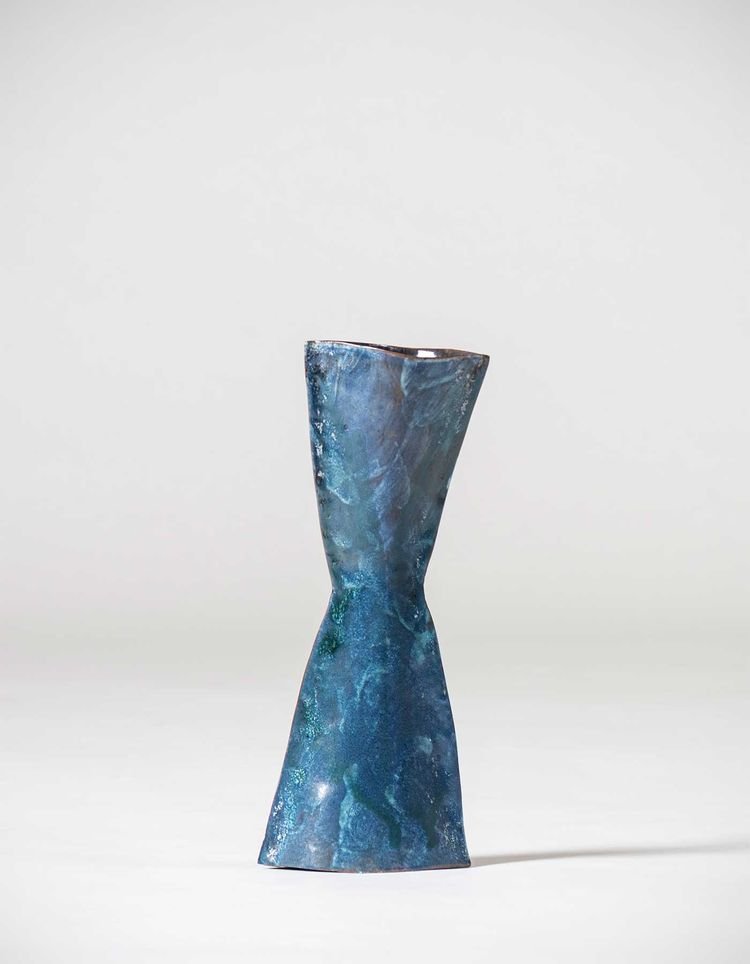 Designed And Made By Fausto Melotti Vase Vescovo Italy