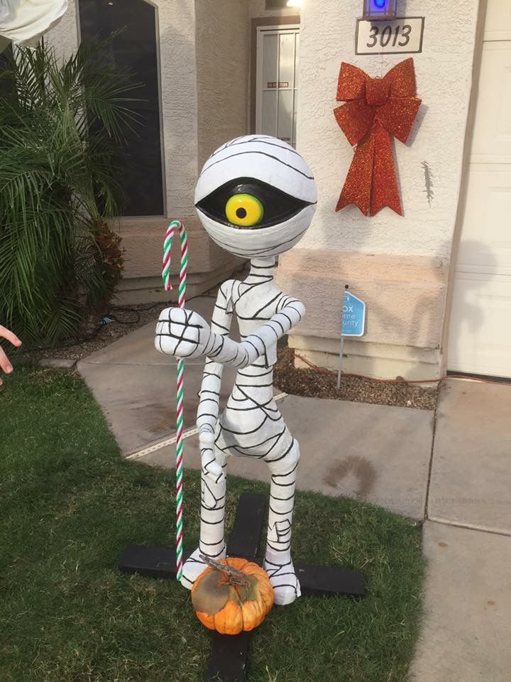 diy mummy boy from nightmare before christmas made for our halloween yardhouse display they are normally on the roof made by me with pvc cotton padding - When Was The Nightmare Before Christmas Made