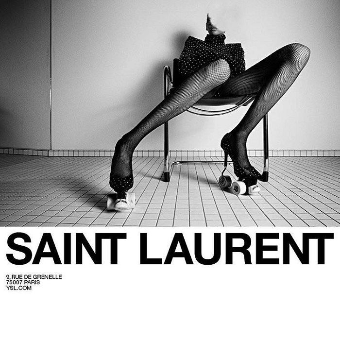 Yves Saint Laurent Introduced Roller Skate High-Heeled Stilettos