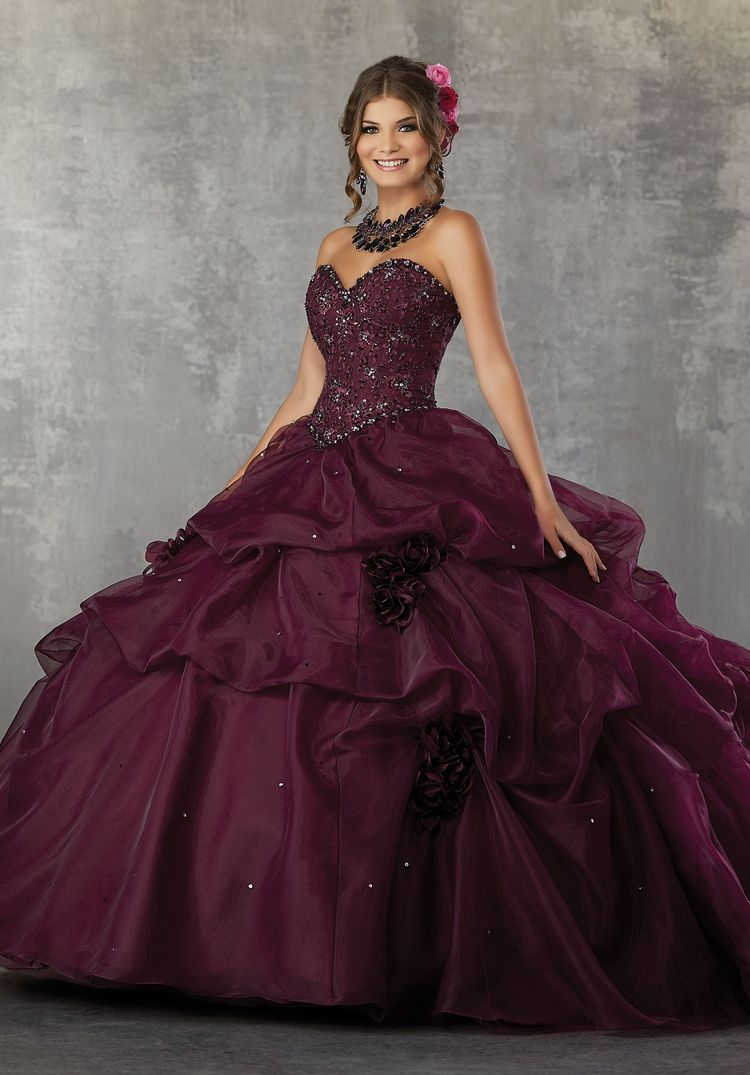 a39d71e0eb Strapless Ruffled Quinceanera Dress by Mori Lee Valencia 60031