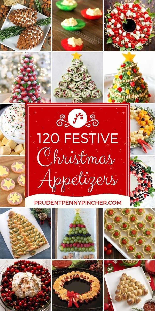 Bring these festive and creative appetizers to your Christmas party! These Christmas appetizers are easy to prepare andtaste as good as they look.There aredeliciousdips, creamyspreads, and finger lickin' good finger food that are perfect forfeeding