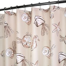 Park B SmithR Sea Life Linen 72 X WaterShedR Shower Curtain
