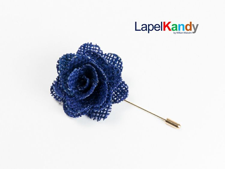 premium selection 01bfe 67cf3 BLUE BURLAP LAPEL KANDY via LAPEL KANDY. Click on the image to see more!