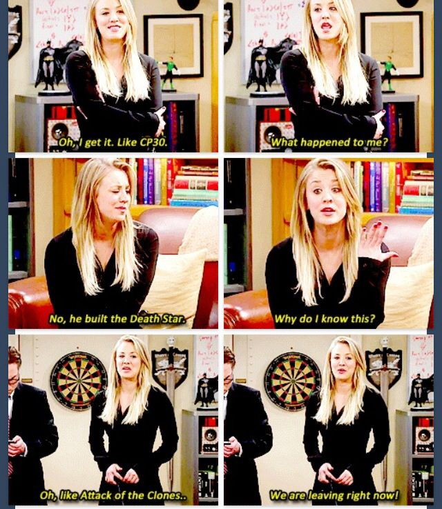 This is me, except I actually am more nerdy than Penny and it's Doctor Who facts coming out of my mouth instead of Star Wars. -_____-