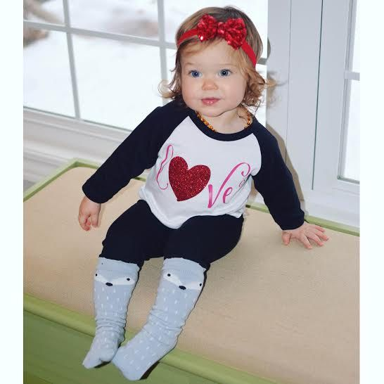 Girl Valentines Day Outfit Baby Girl Valentines Day Shirt