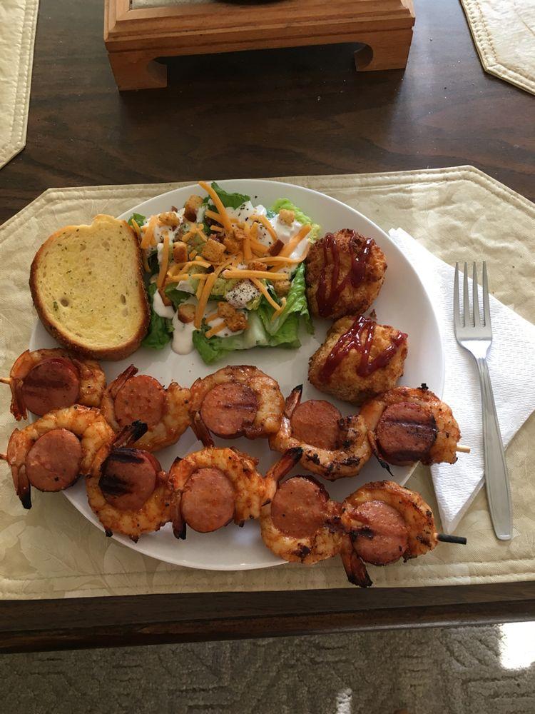 Sausage & Grilled Shrimp Kabobs