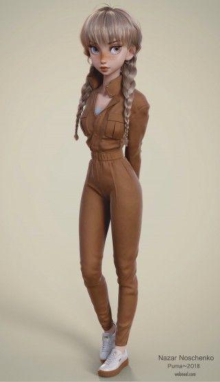 20 modelos realistas de liquidificador 3D e desenhos de personagens da Ucrânia Character Artist Nazar Noschenko