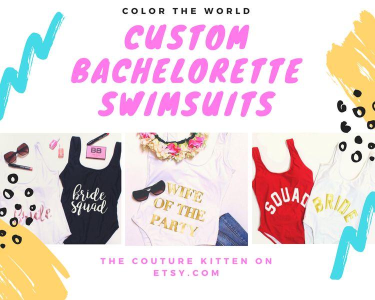 52d903c187a5a Custom swimsuits, Custom bride swim, bride suit, bride onepiece, bride one  piece