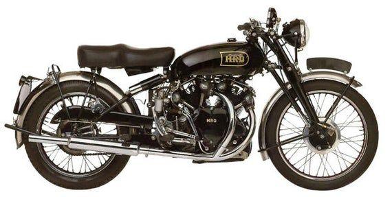 Black Shadow Vintage 1949 Motorcycle T-Shirt. Classic Bike Motorbike Tee Biker Gift