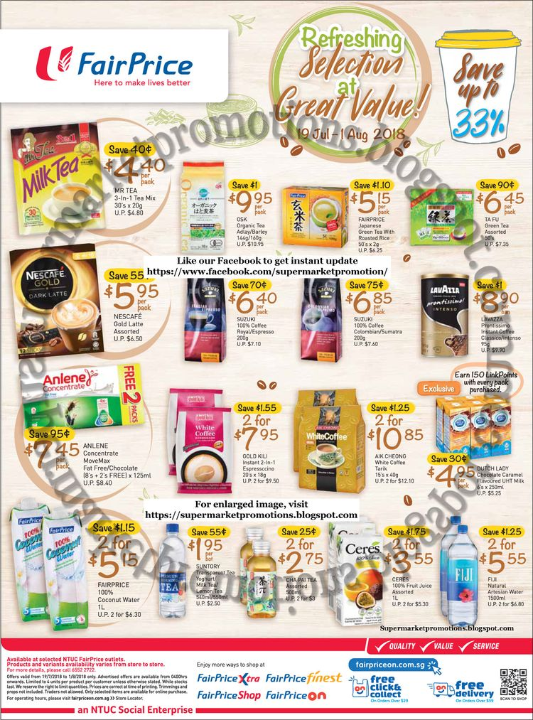 NTUC FairPrice, FairPrice supermarket promotion NTUC FairPr