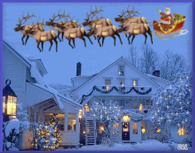 animated christmas sleigh rides santa santas sleigh merry christmas animation animations animated - Animated Christmas Pictures