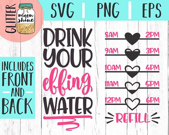 14febe9f06 Drink Your Effing Water Tracker svg dxf eps png Files for Cutting Machines  Cameo Cricut, Fitness, Wo