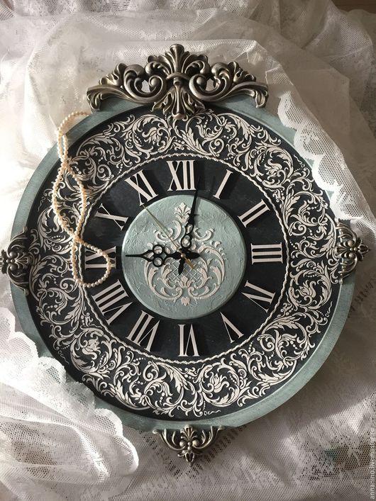 95d2582d30ac Часы для дома ручной работы. Ярмарка Мастеров - ручная работа. Купить Часы  настенные, коллекция Барокко Аквамарин 67х60см!. Handmade.