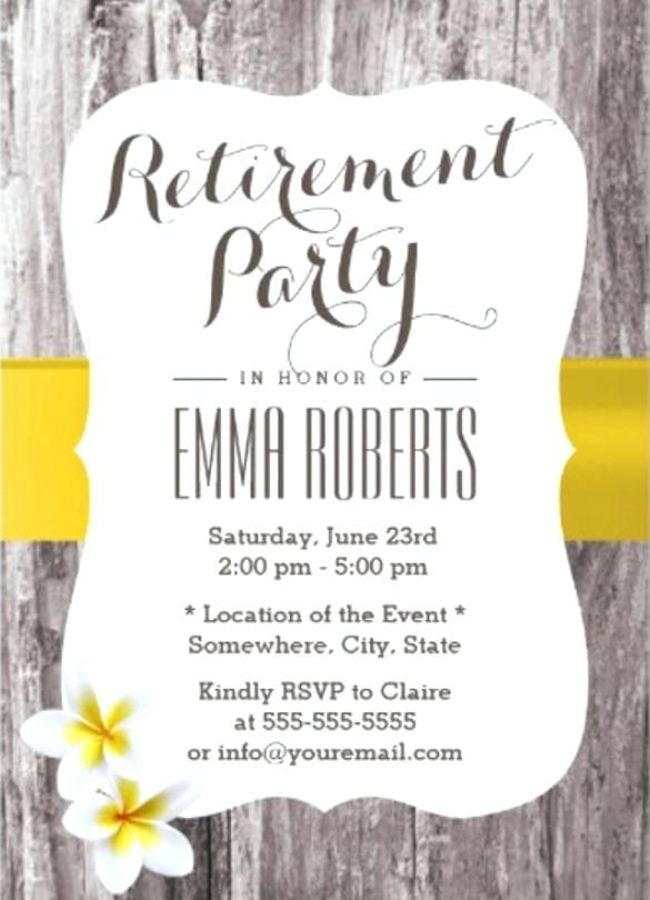 retirement invitation template classy wood background reti