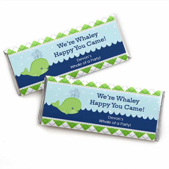 24 Tale Of A Whale Custom Candy Bar Wrappers Personalize