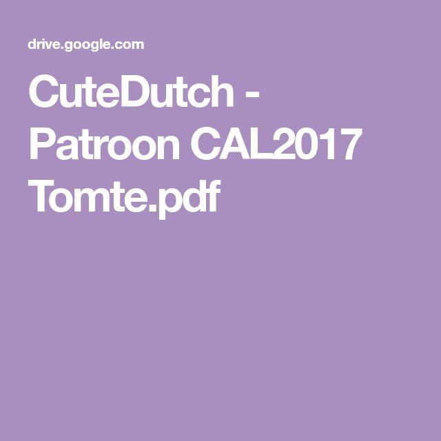 Cutedutch Patroon Cal2017 Tomtepdf