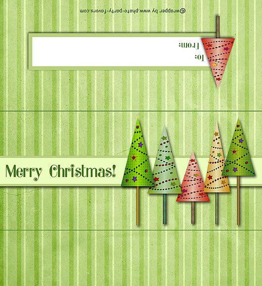 Christmas Trees Free Printable 1 55 Oz Candy Bar Wrapper