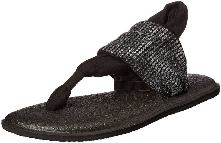 4c483becaadd97 Sanuk Women s W Yoga Sling Sequins Flat Sandal   Check this awesome image    Sanuk sandals