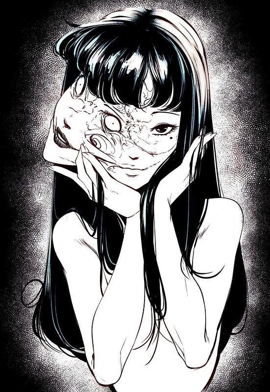 Tomie;  Poster de Junji Ito por pinkbabygirl