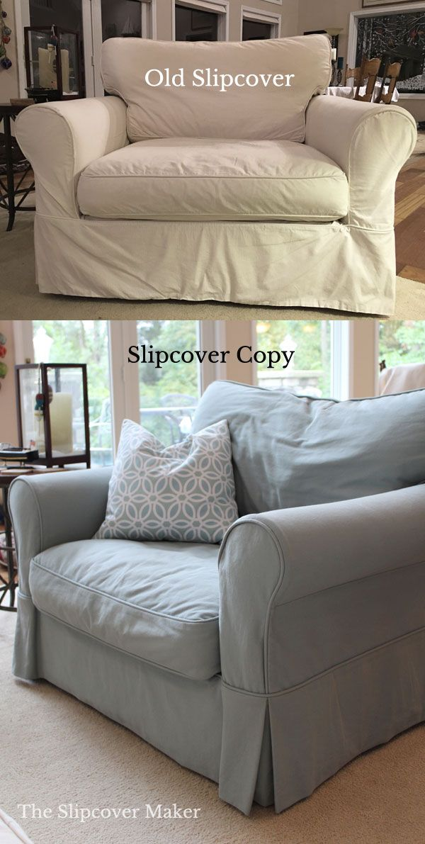 What is a slipcover copy? It's a new slipcover I makeby replicatingyour old one. I take apart yourold cover and use it as a template. Your old slipcover willno longer be usable after I take it apart. How will it fit? Your newslipcover will fit as well as your old one if similar fabric is…