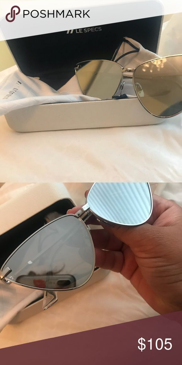 d7fc1d67e9d LE SPECS NERO SILVER CAT EYE SUNNIES Le Specs Nero Sunnies in Silver.  Extremely hard to find in this color. Worn for 2 hours. No scratches!