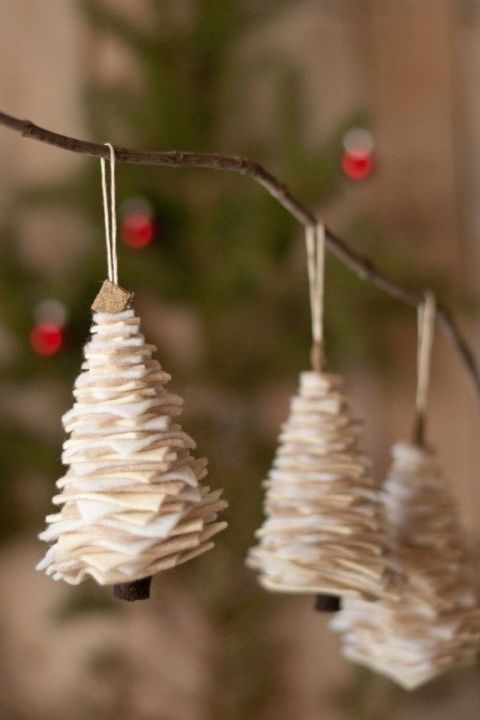Making (and then hanging) these adorable felt trees is an easy craft for the whole family.