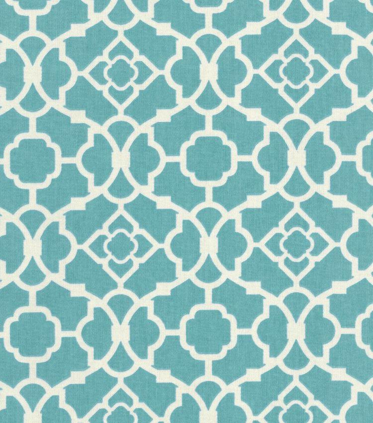 Waverly Home Decor Print Fabric Lovely Lattice Aqua Hi R