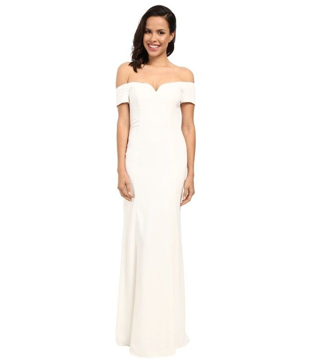 35d609ab680 A Badgley Mischka off-the-shoulder stunner.