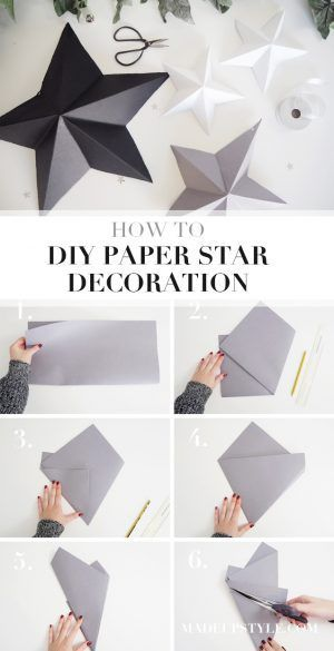DIY Paper Star Decoration | #MadeUpFestive - Made Up Style
