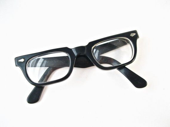 1ef80a0d64 Tart Optical Ex-Man vintage horn rimmed glasses. Black plastic OTE frames  mens