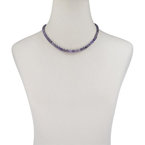 d8549c100c4 Jay King Sterling Silver Graduated Blue Tanzanite Bead Neck