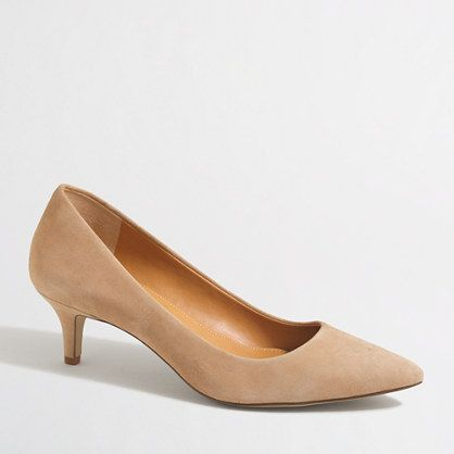 bc92bb641ab Esme suede kitten heels   FactoryWomen Heels