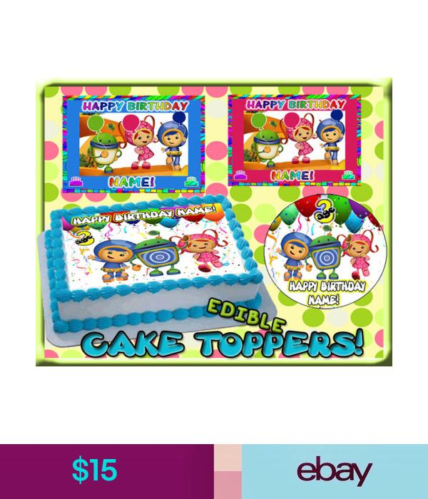 Team Umizoomi Birthday Cake Topper Edible Picture Image FR